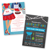Party invitation themes Barbeque, BBQ Invitations