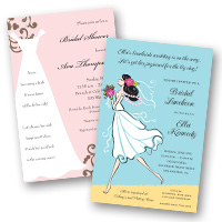 Party invitation themes Bridal Shower Invitations