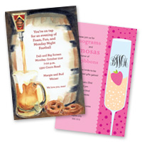 Party invitation themes Cocktail Wine Invitations