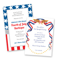 Seasonal holiday party 4th of July Invitations