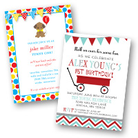 1st Birthday Invitations Boys