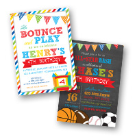 Kids Birthday Invitations Boys