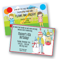 Kids Birthday Invitations Girls & Boys