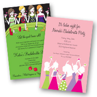 Wedding Related Bachelorette Party Invitations