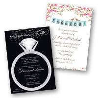 Wedding Related Engagement Party Invitations