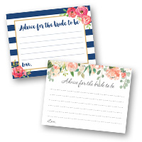 Bridal Shower Games Advice Cards