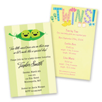 Birth Announcements Twin/Sibling