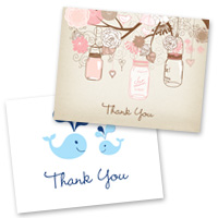 Baby Stationery Thank You Cards
