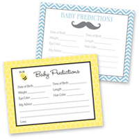 Baby Shower Games Prediction Cards