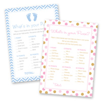 Baby Shower Games What's In Your Purse Cards