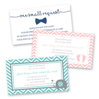 Baby Shower Games Bring a Book Cards