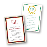 Graduation Invitations Monogram