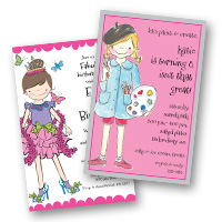 Kids Invitations Girls