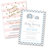 Party invitation themes Baby Shower Invitations