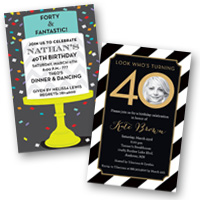 Adult Birthday Invitations 40th Birthday