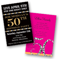 Adult Birthday Invitations 50th Birthday