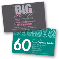Adult Birthday Invitations 60th Birthday