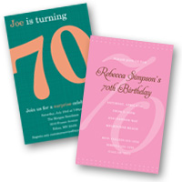 Adult Birthday Invitations 70th Birthday