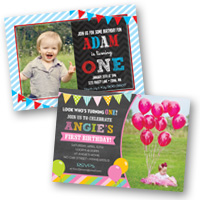 1st Birthday Invitations Photo Cards