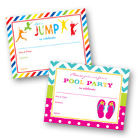 Kids Birthday Invitations Fill-in Invitations