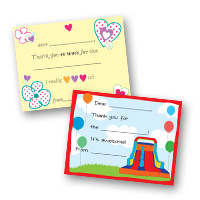 Kids Thank You Cards Fill-in