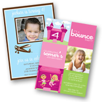 Kids Invitations Photo Cards