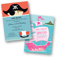 Popular Invite Themes Pirates & Treasures