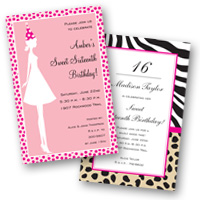 Kids Invitations Sweet 16th Birthday