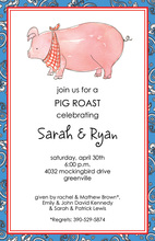 Plaid Paisley Pig Roast Invitations