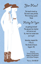 Silhouette Cowboy Couple Invitations