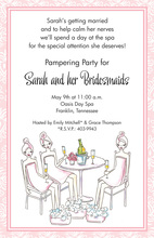 Sexy Pampered Girls Party Invitations