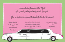 Bachelorette Girls Inside Limousine Invitation