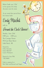Clock Shower Invitations