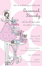 Classic Bride Presents Polka Dot Invitation