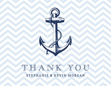 Powder Blue Nautical Thank You Cards