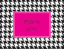Houndstooth Thank You Cards