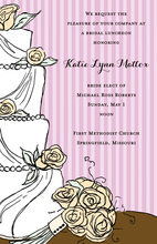 Trendy Wedding Cake Floral Decoration Invitations
