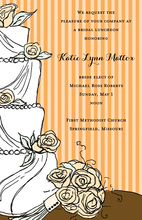 Classy Wedding Cake Floral Decoration Invitations