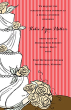 Spicy Wedding Cake Floral Decoration Invitations