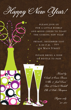 New Year Pop Invitations