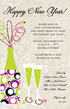 New Year Ivory Invitations