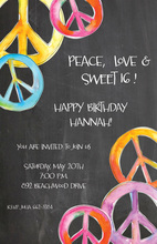 Peace Corners Chalkboard Invitations