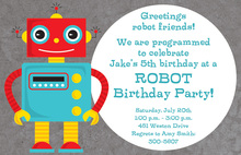 Smiling Robot Invitations
