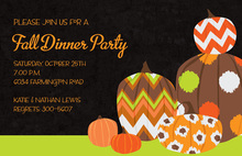 Whimsy Pumpkins Invitation