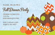 Chevron Pumpkins Invitation