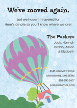 Moving Hot Air Balloon Invitations