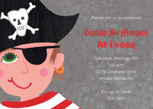 Eye Patch Boy Pirate Invitations