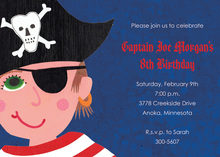Commanding Boy Pirate Invitations