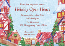 Country Village Holiday Invitations