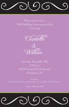 Modern Scroll Lavender Invitations